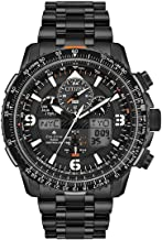 Men's Citizen Eco-Drive Promaster Skyhawk A-T Chronograph Black Bracelet Watch JY8075-51E