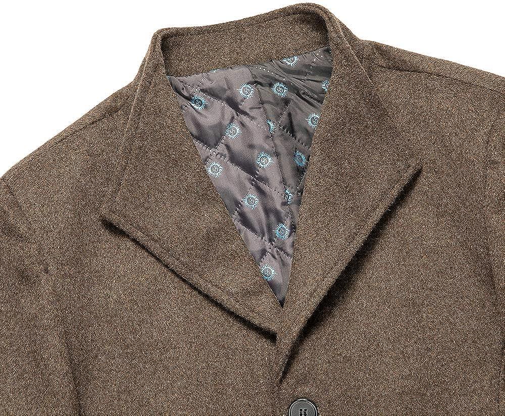 Wool Blend Coats Men Winter Men's Color Casual Wool Overcoat Business Wool Coat