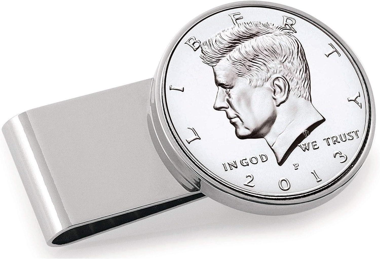 Proof JFK Half Dollar Stainless Inexpensive Steel Money Max 78% OFF Clip Silvertone