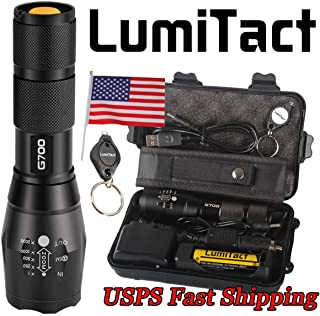 2000lm Genuine Lumitact G700 L2 LED Tactical Flashlight Military Grade Torch