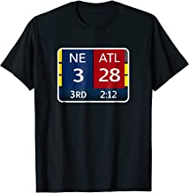 NE 3 ATL 28 NE 34 ATL 28 Final T-shirt 2 Sides to 1 Game
