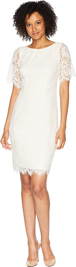 Bell Sleeve Georgia Lace Sheath Dress