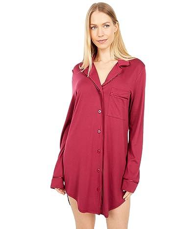 Cosabella Bella Sleep Shirt (Deep Ruby/Deep Ruby) Women