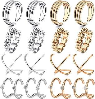 VFUN 8 Paio Donna Ragazze Ear Cuff Piercing Acciaio Inossidabile Mix Styles Piercing Naso Septum Labbro Palla Piercing Ore...