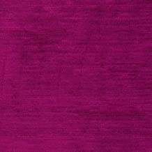 Ramtex Textured Suede Duke Very Fabric, Berry