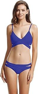 zeraca Women's Sexy Cutout Bottoms Wrap Bikini Bathing Suits