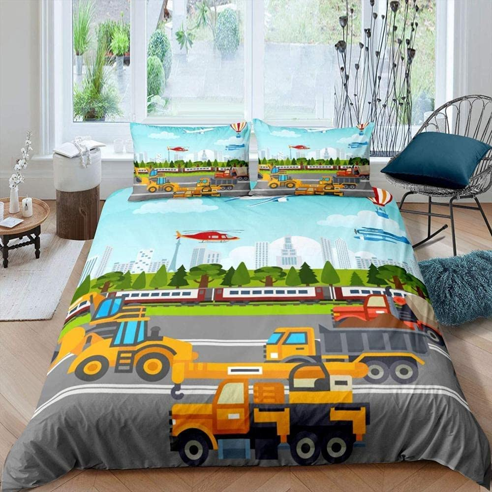 King Duvet Cover Cartoon Truck with Cheap sale Comforter Construction El Paso Mall