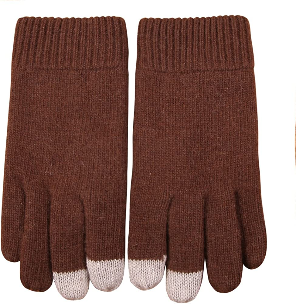 Elma Men's Wool Knit Touchscreen Texting Gloves Mitten for Smartphone Iphone Ipad