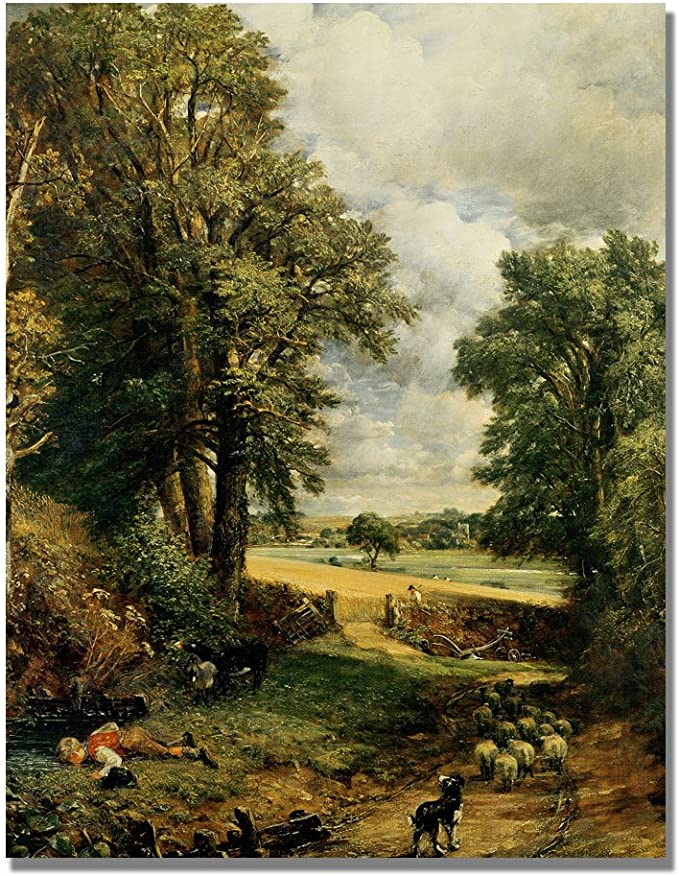 The Cornfield By John Constable 24x32 Inch Canvas Wall Art Oil Paintings Posters Prints