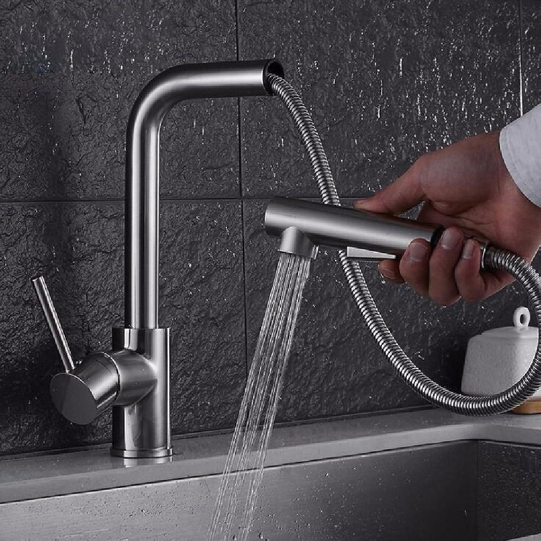 NewBorn Faucet Wasserhhne Warmes und Kaltes Wasser groe Qualitt Ziehen Küche Leitungswasser Waschbecken Waschbecken mit Warmen und Kalten Speisen aus gebürstetem Wasser Drehen, Tippen Sie auf
