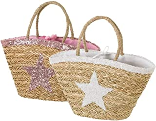 Dream Hogar Bolsa capazo bolsa playa fibra natural estrella