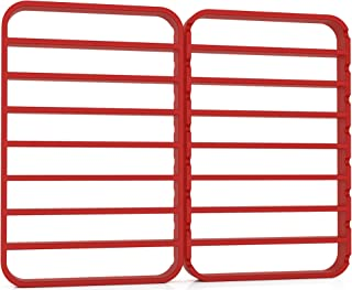 STAN BOUTIQUE Oversize Silicone Roasting Rack Heavy Duty Cooling and Baking Rack Fits Jelly Roll Sheet Pan Oven Safe Roast Rack Wire for Cooking (11