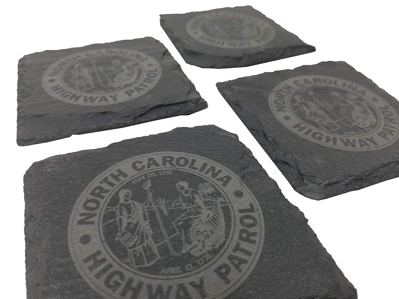 North Carolina Ranking TOP7 State Highway Patrol Slate 5 ☆ very popular NCSHP Coaster - Set Gr