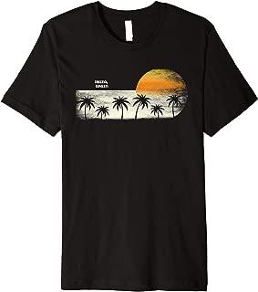 Vintage Ibiza  Ocean Sunset and Palm Trees Premium T-Shirt