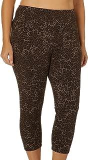 Plus Suave Cheetah Print Leggings 2X Brown Multi