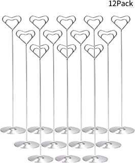 Starsbasics 12'' Table Number Holder Set of 12 Place Card Holders Table Number Holders Wedding Card Holder Table Number Stand Table Photo Holders (12-Inch, Set of 12)