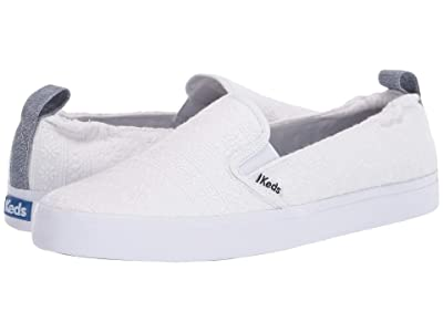 Keds Darcy Slip Embroidered Stripe (White) Women
