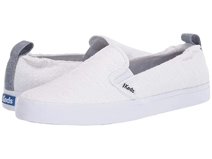 Keds  Darcy Slip Embroidered Stripe (White) Womens Shoes