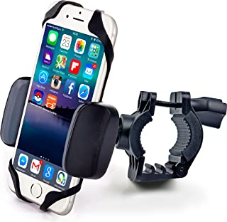 Bike & Motorcycle Phone Mount - for iPhone 11 Pro (Xs, Xr, 8, Plus/Max), Galaxy s10 or Any Cell Phone - Universal Handlebar Holder for ATV, Bicycle & Motorbike. +100 to Safeness & Comfort