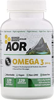 AOR Vegan Omega 3, 120 Softgels