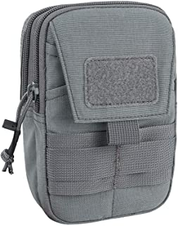EXCELLENT ELITE SPANKER Tactical Molle EDC Pouch Nylon Utility Gadget Waist Bag Pouch Organizer with Cell Phone Holster Holder(Grey)
