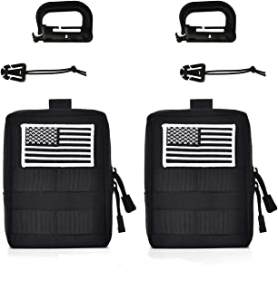 GZSAIPASI 2 Pack 100% Full Refund Assurance 1000D Nylon Molle Tactical Pouches Compact Utility EDC Waist Bag Pack Small Gear Gadget Organizer for Backpack