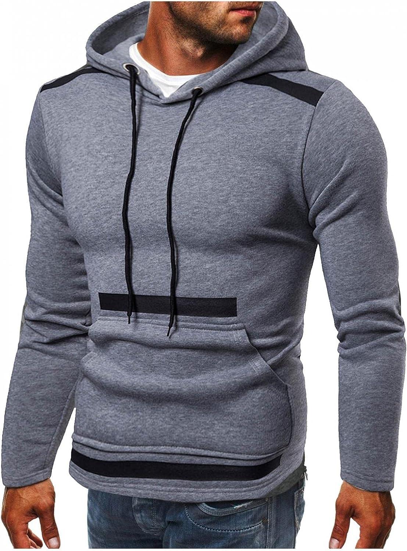 Hoodies for Men Mens Hoodies Men's Casual Pocket Coat Slim-fit Hooded Cardigan Sweatshirts Top Fashion Hoodies Sweatshirts