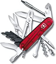 Victorinox Swiss Army Knife Cyber Tool, M, Red Translucent