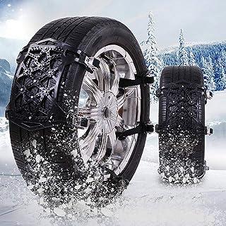 Sunwan 6 x Auto Reifen Schlammketten, rutschfeste Stahlketten, einfache Installation, Schwarz