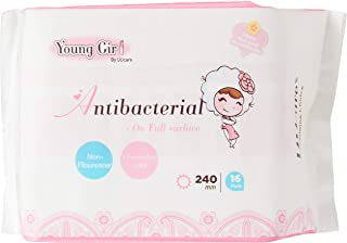 UUcare Young Girl Antibacterial Napkin 240mm, 16ct
