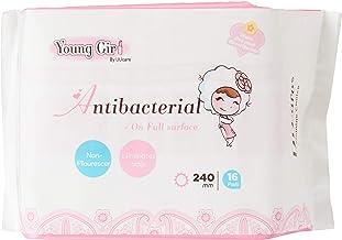 UUcare Young Girl Antibacterial Napkin 240mm, 16ct