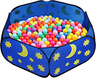 Eggsnow Kids Ball Pit Large Toddlers Baby Play Pit with Zippered Storage Bag Ideal for Kids Toddlers Pets Indoor Outdoor Play Balls Not Include(42 Inches)
