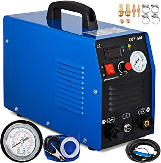 Mophorn 50Amp Plasma Cutter Dual Voltage 110V 220V Portable Plasma Welder Plasma Cutting Machine Cut50F Inverter Digital Plasma Welding Machine(50 Amp 110V 220V)
