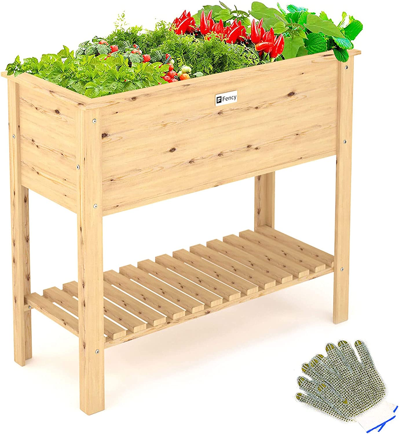 Elevens Raised Garden Bed Elevated Planter Box Outdoor with Legs for Flower/Herb/Vegetables, Growing Bed for Patio/Backyard/Balcony/Outdoor/ Indoor (36x16x30)