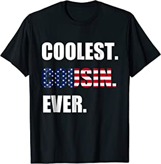 Coolest Cousin Ever Independence Day Funny Girl Boy T shirt