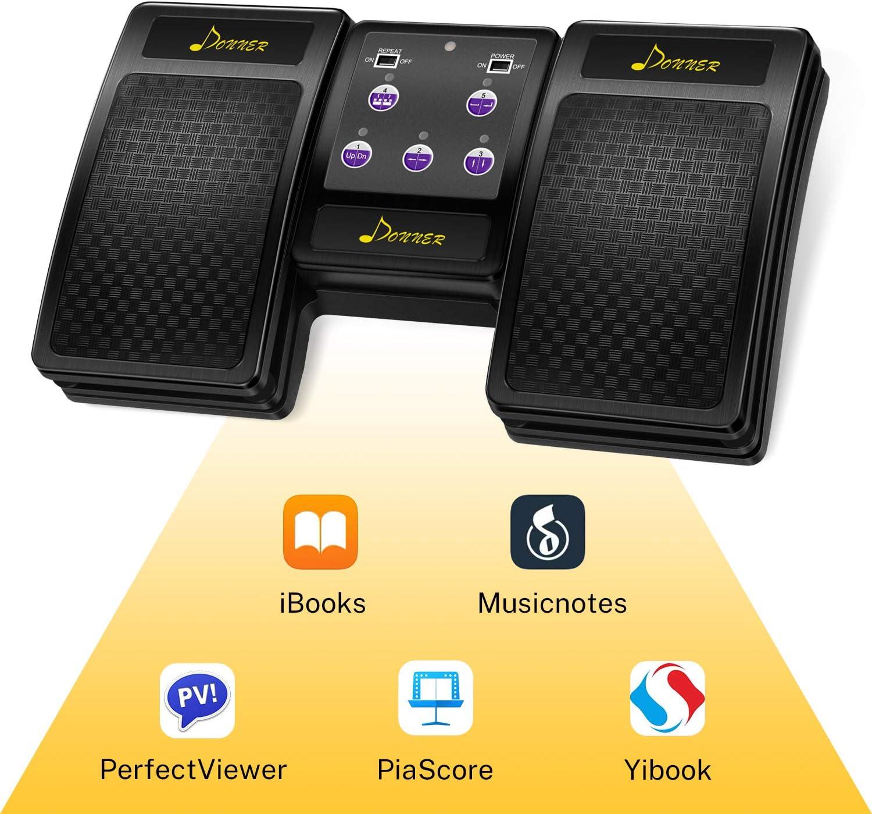 negro Pedal Bluetooth para tablet recargable Donner iPad
