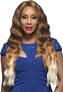 Vivica A Fox Yucera Synthetic Fiber Natural Baby Hair Lace Front Wig, P4/27/33, 13 Ounce