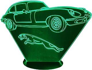 JAGUAR Type E, Lampada illusione 3D con LED - 7 colori.