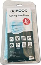 Booc 3 Layer Disposable Protective Face Mask - Pack of 10