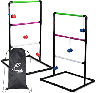Champion Sports Outdoor Ladder Ball Game: Backyard Party, Camping & Beach Games Ladder Golf Set for Adults and Kids with B...