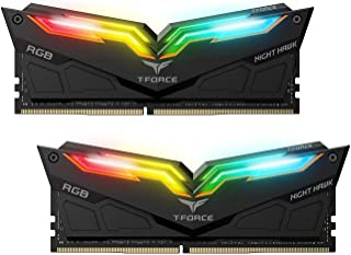 Team Group T-Force Night Hawk RGB - Memoria di gioco DDR4 (Supporta ASUS Aura Sync, RAM 16GB (2 x 8GB) RGB, 3000 MHz, CL16...