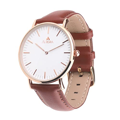 276643923df2 Aurora Women s Metal Retro Casual Round Dial Quartz Analog Wrist Watch with  Leather Band
