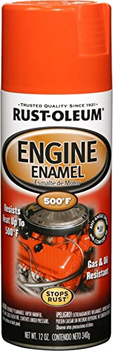 Rust-Oleum 248941, Chevy Orange, 12 oz, Automotive Engine Enamel Spray Paint