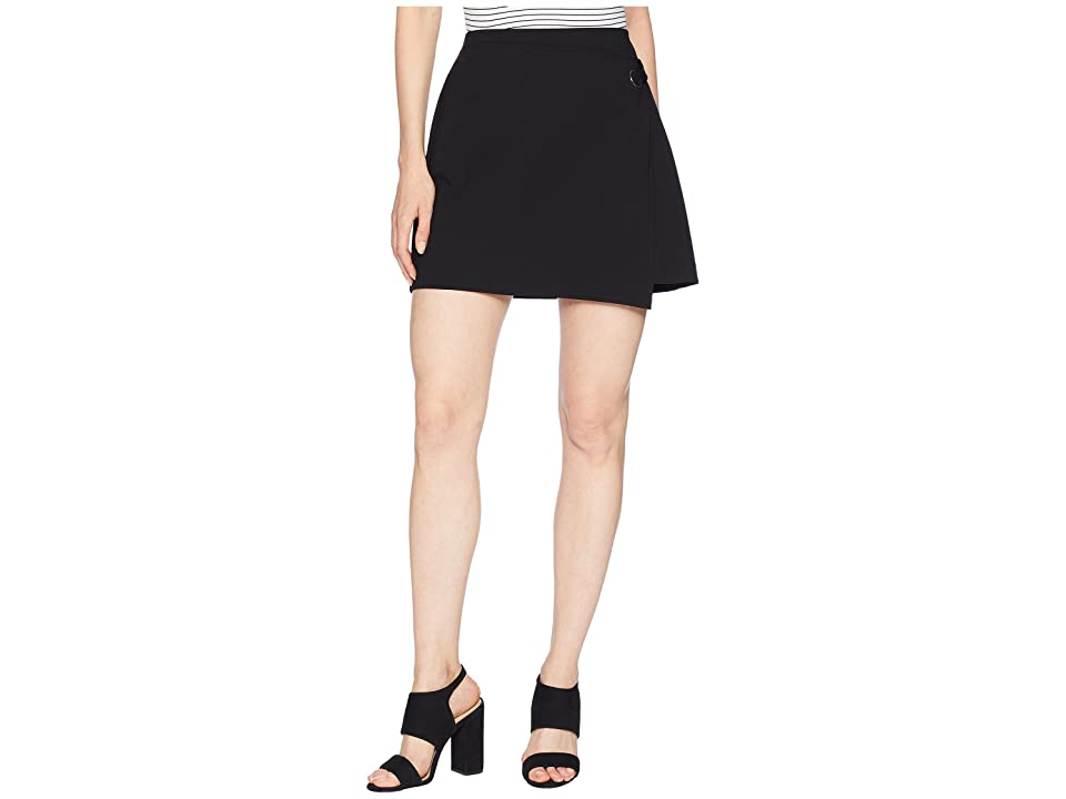 Three Dots Jeanie Wrap Skirt (Black) Women