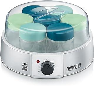 comprar comparacion SEVERIN Yogurtera, Incl. 7 Tarros de 150 ml, Temporizador, JG3525, Plateado/Blanco