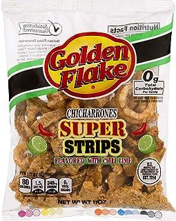 Golden Flake Super Cracklin Strips, Chili Lime, 3 oz (Pack 4)