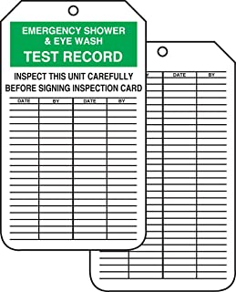 Accuform Signs MGT207CTP Inspection Record Tag, Legend