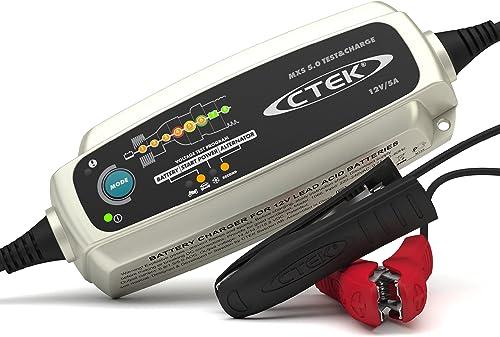 CTEK MXS 5.0 Test & Charge, Caricabatterie 12 V 5 A, Caricabatteria Tenero, Mantenimento Batteria Auto, Caricabatteri...