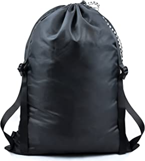 iwill CREATE PRO Laundry Backpack, Heavy Duty Laundry Bag for Laundromat, College Students, Black