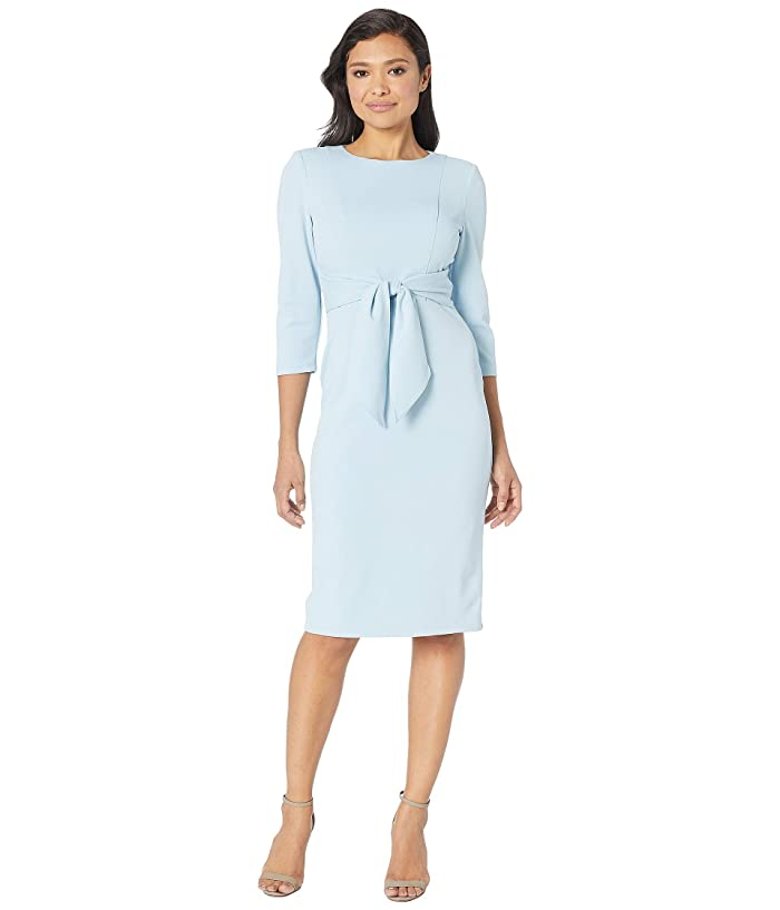 b8066d00a5 Adrianna Papell Knit Crepe Tie Waist Sheath Dress at Zappos.com